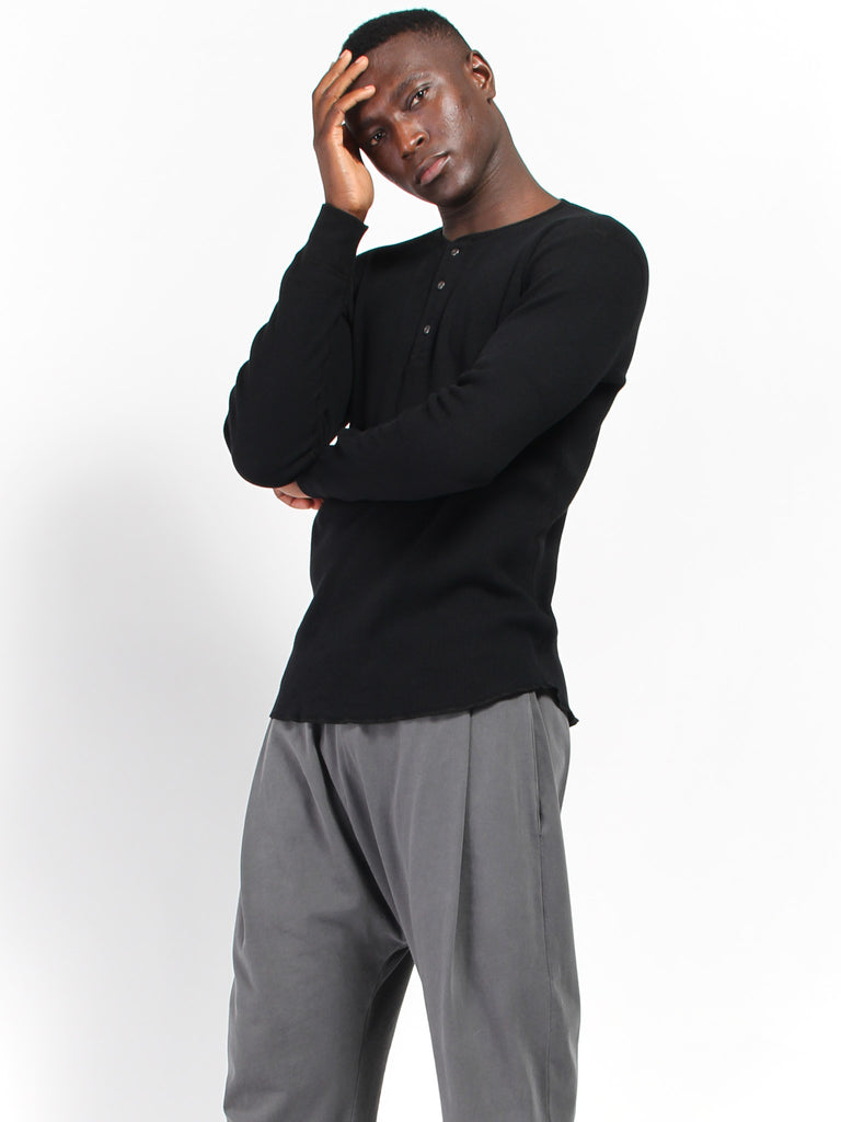 Long Sleeve Thermal - Black by Wings and Horns