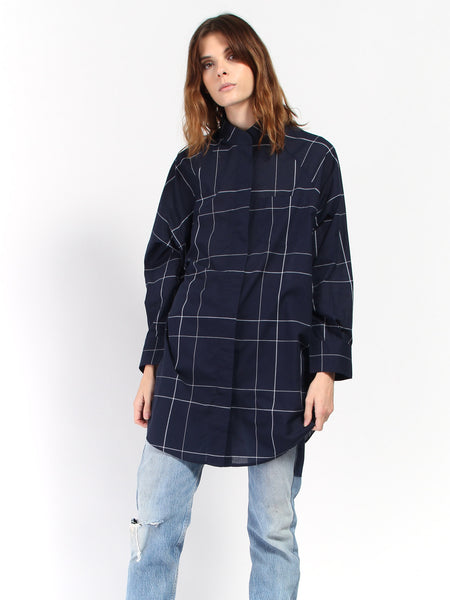 Just Love Shirt - Navy Check by Kowtow