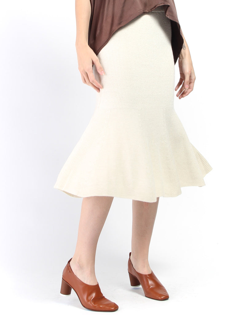 Estela Sweater Skirt - Ivory by Eleven Six