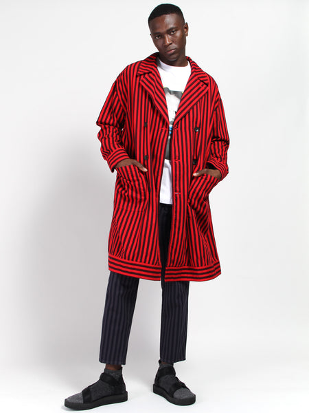 Striped Cotton Coat by Gustav Von Aschenbach