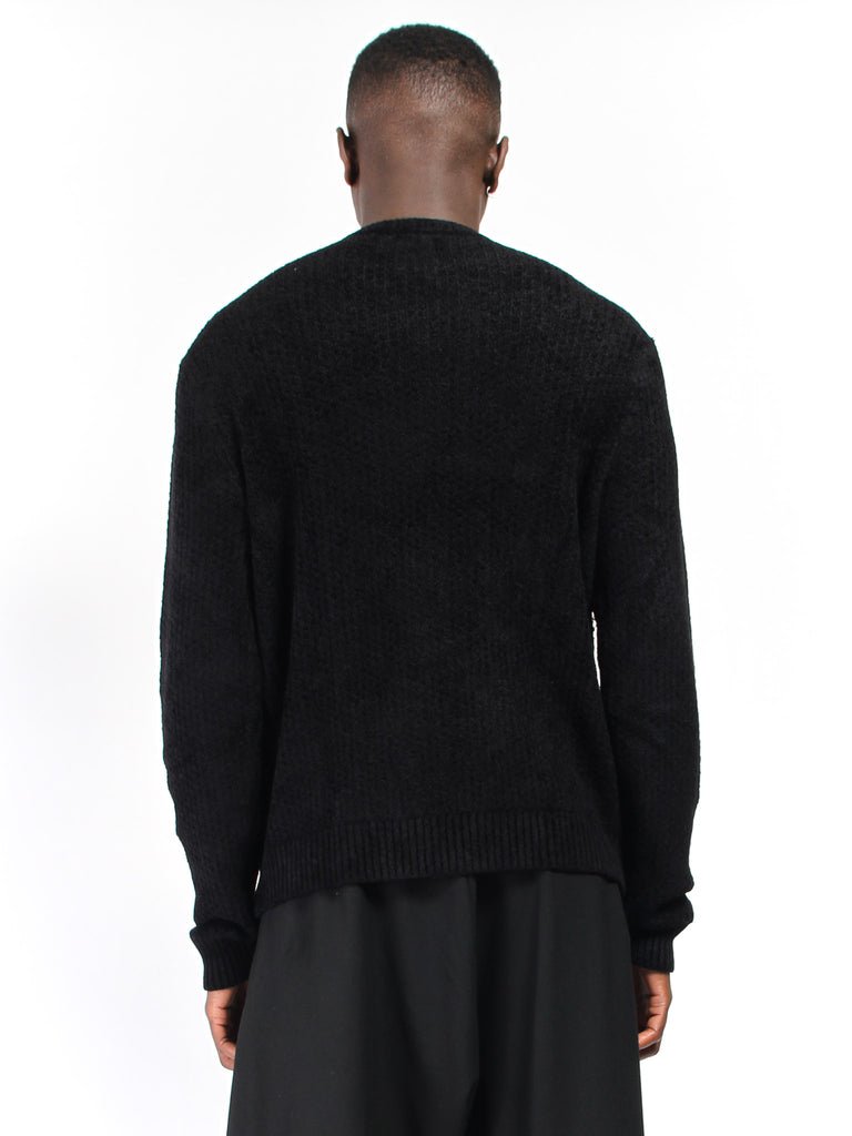 Chenille Crewneck Sweater by Deveaux
