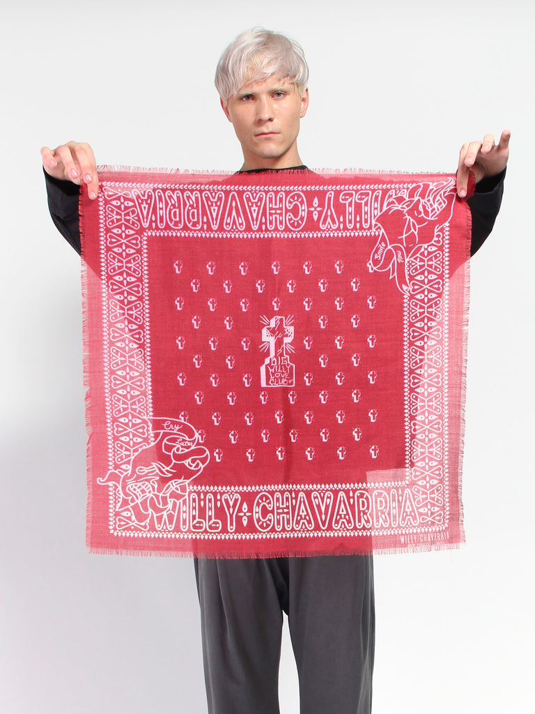 Big Willy Bandana - Red by Willy Chavarria