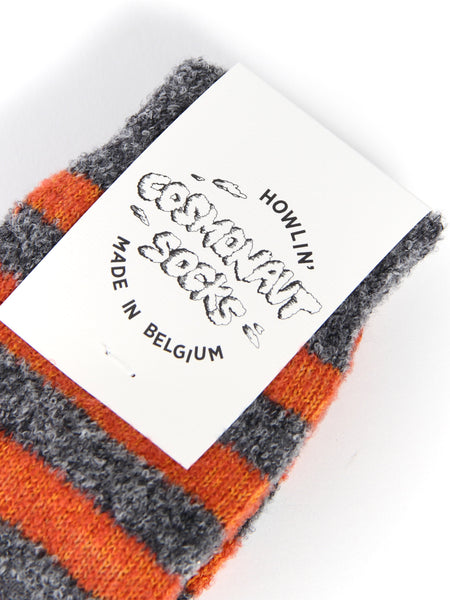 Cosmonaut Socks - Grey/Orange by Howlin
