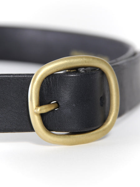 Wide Oval Belt - Black/Brass by Maximum Henry