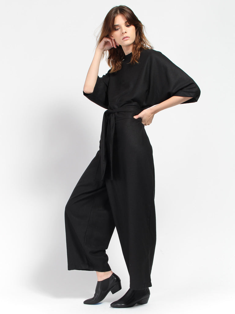 Hesse Jumpsuit - Black by Miranda Bennett