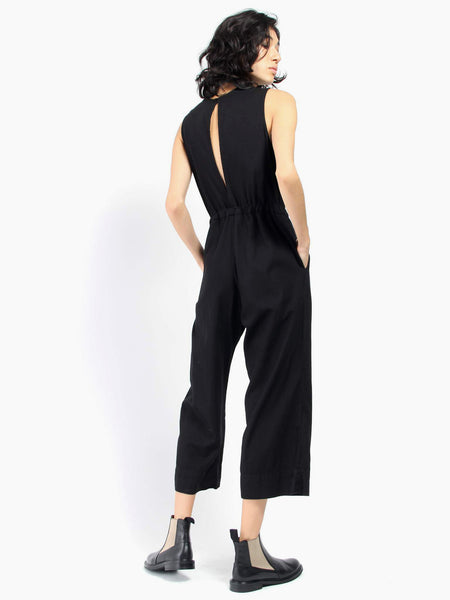 Slit Back Jumpsuit - Black by Ali Golden