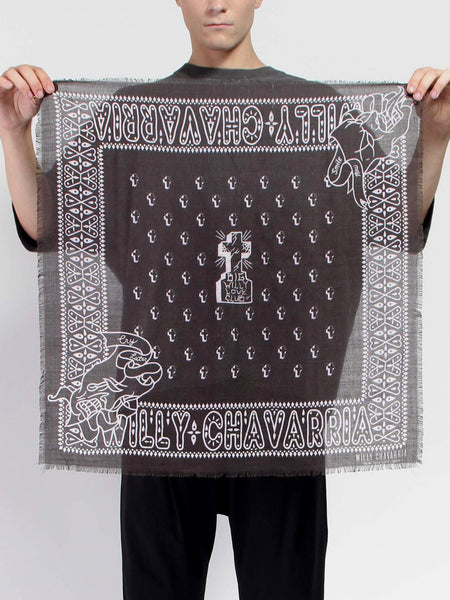 Big Willy Bandana - Black by Willy Chavarria