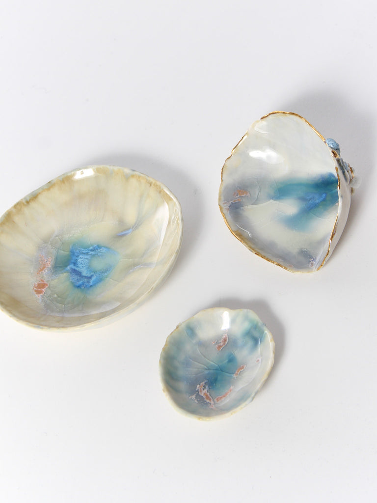 Small Opal Dish by Minh Singer
