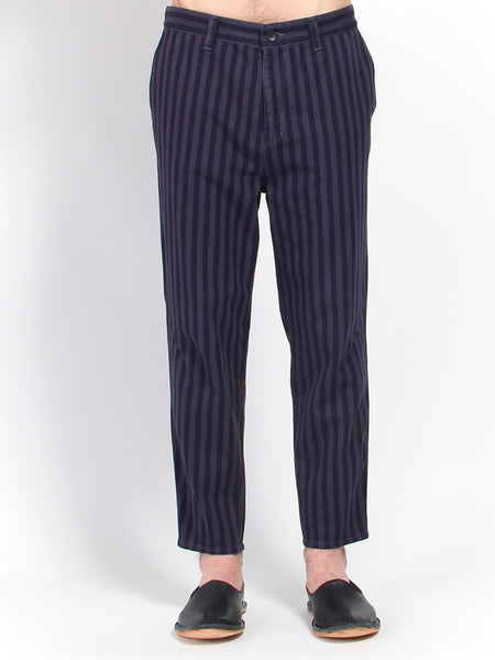 Striped Cotton Pant by Gustav Von Aschenbach