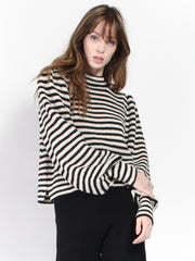 Mia Sweater- Stripe Combo