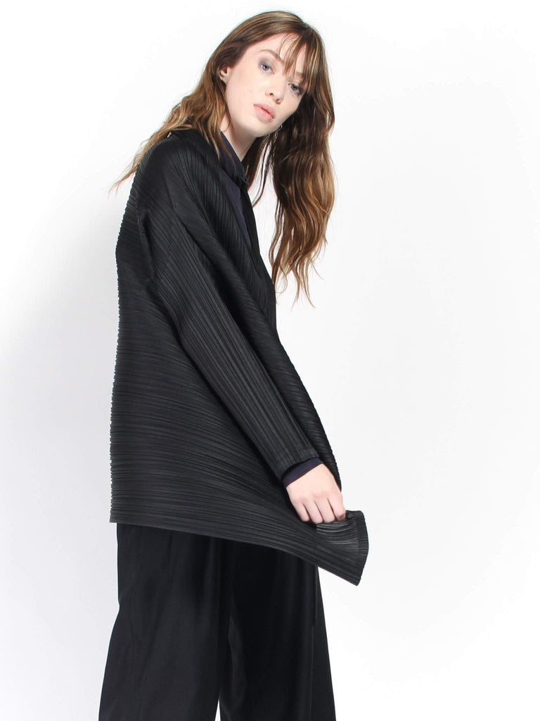 Pleats Jacket - Black by Issey Miyake Pleats Please