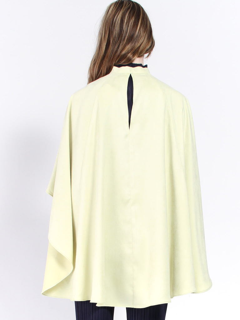 Karma Cape- Sueded Mint by Collina Strada