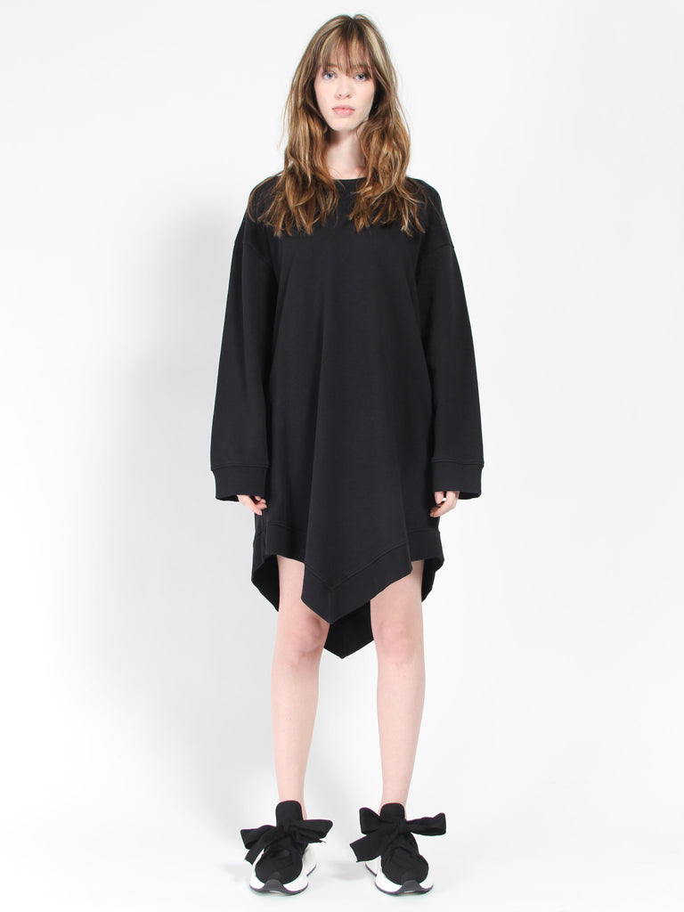 Asymmetrical Sweatshirt Dress by MM6 Maison Margiela