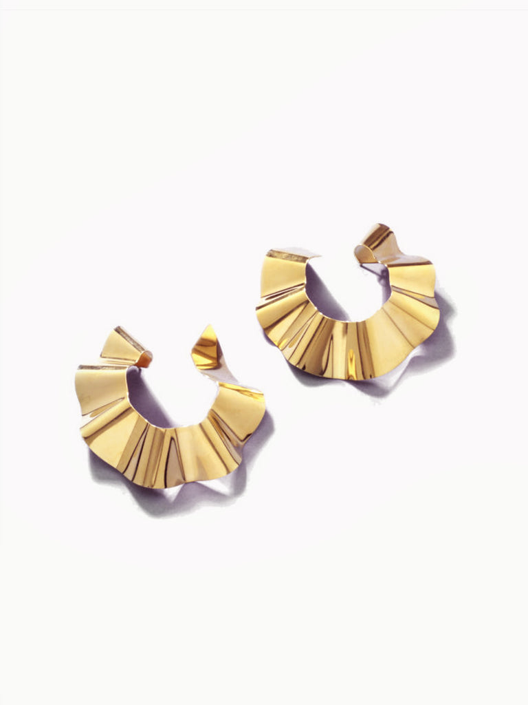 Small Ravioli Earrings - Gold by Gaviria