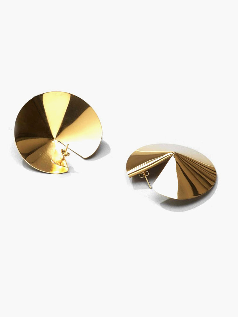 Mini Fortune Cookie Earrings - Gold by Gaviria