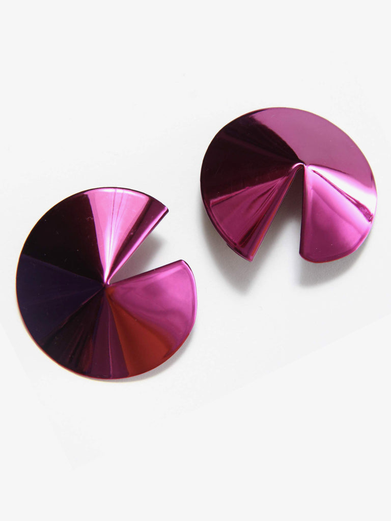 Fortune Cookie Earrings - Purple by Gaviria