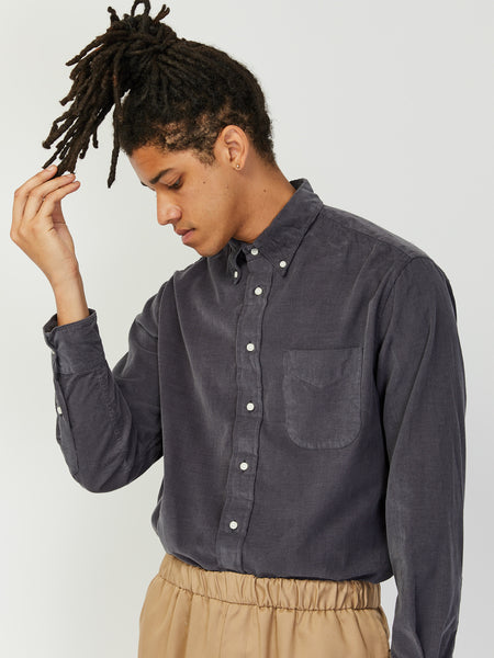 Corduroy Shirt - Grey by Gitman Vintage