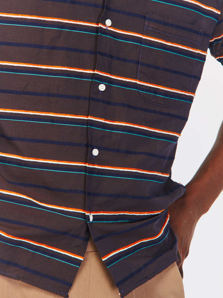 Terry Stripe Camp Shirt by Gitman Vintage