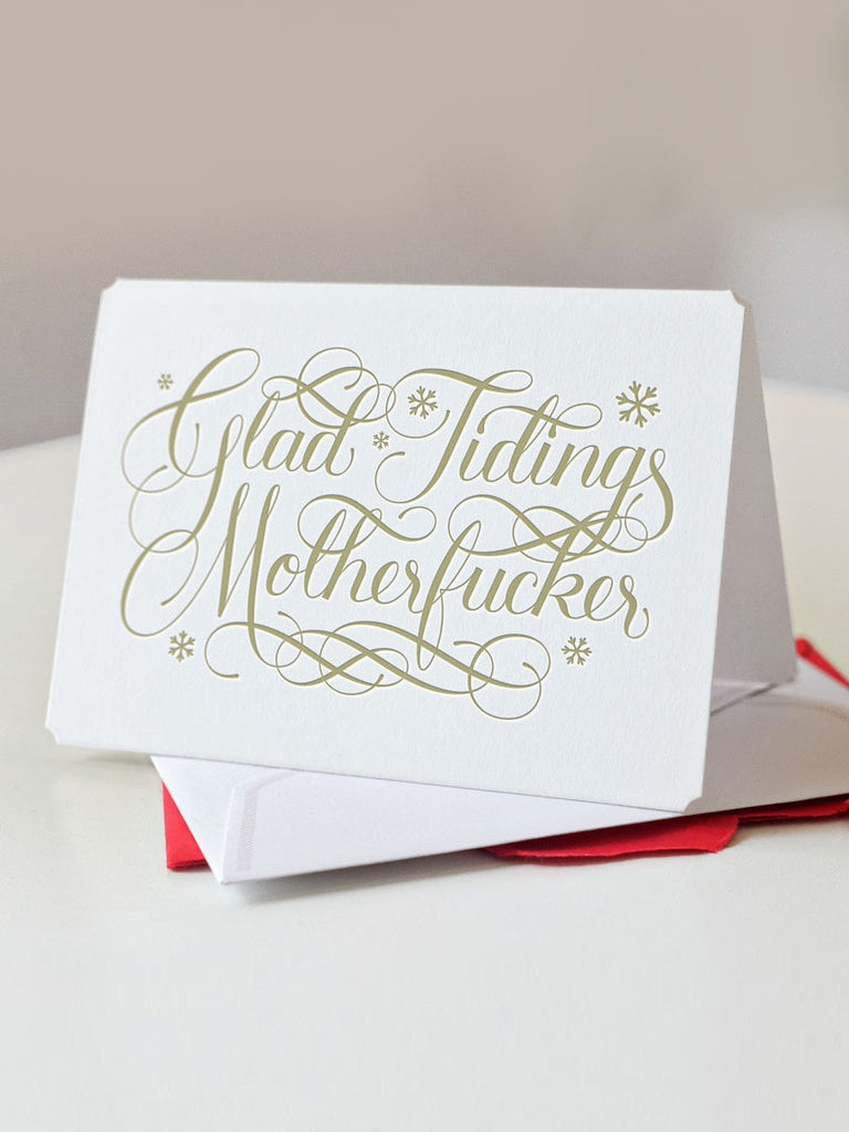 Glad Tidings Motherfucker by Calligraphuck