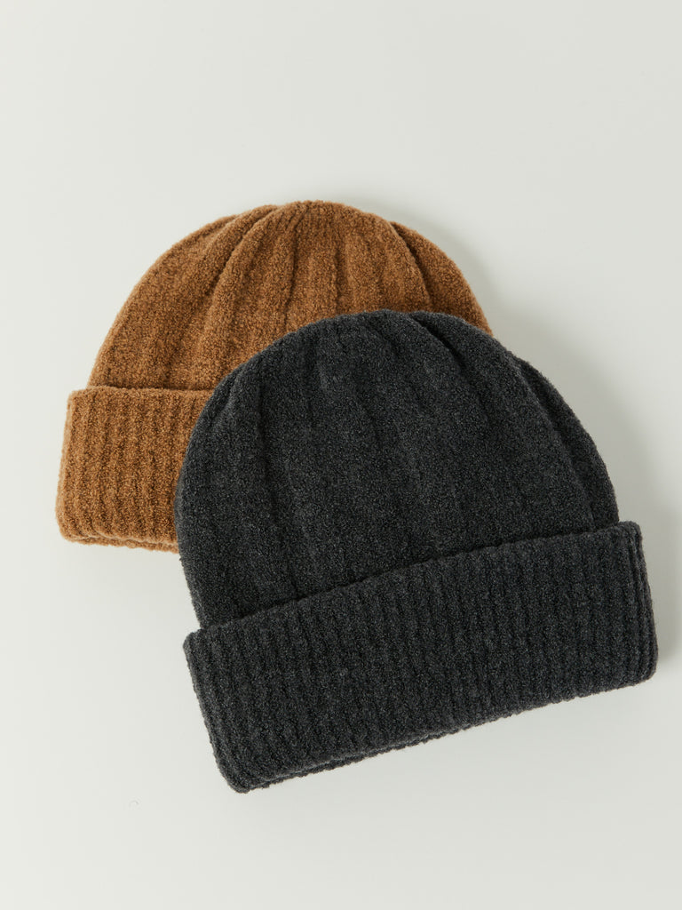 Mousse Doubled Sided Beanie - Charcoal by Grei