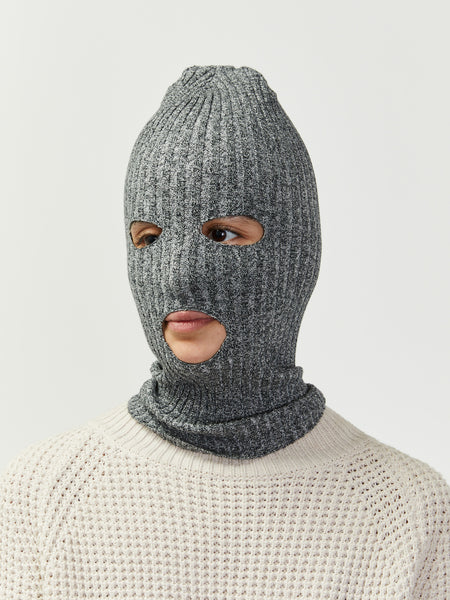 Rib Knit Ski Mask by Giu Giu