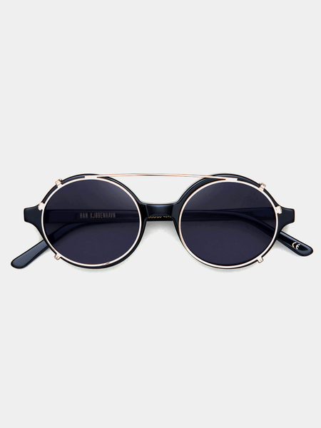 Doc Clip-On Black Sunglasses by Han Kjøbenhavn