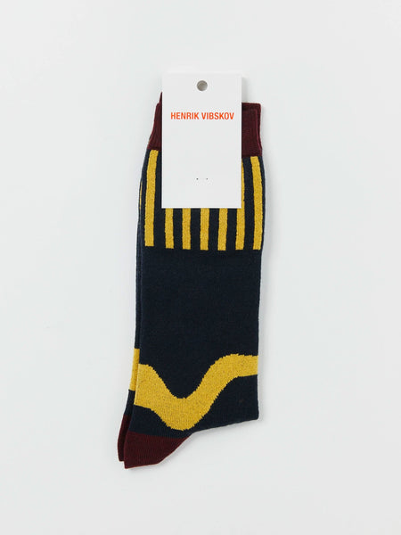 Wiggle Socks - Bordeaux by Henrik Vibskov
