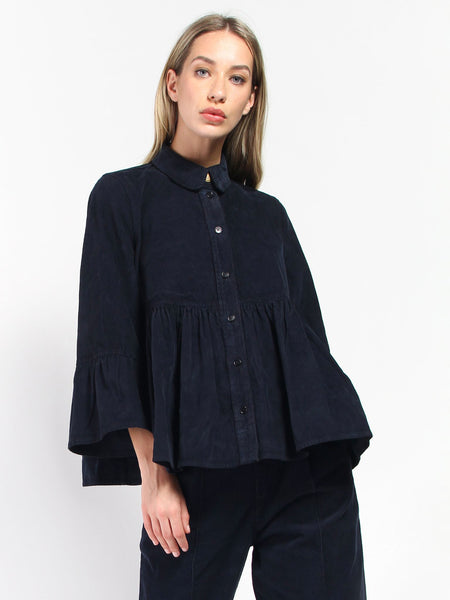 Cake Blouse - Deep Blue by Henrik Vibskov