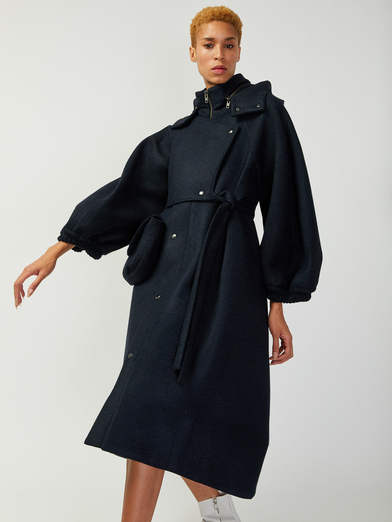 Pump Wool Coat by Henrik Vibskov