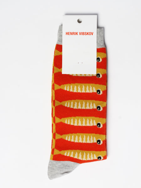 Sardines Sock - Yellow by Henrik Vibskov