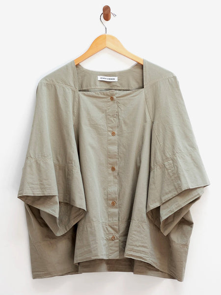 Tape Blouse - Beech Green by Henrik Vibskov