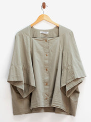 Tape Blouse - Beech Green