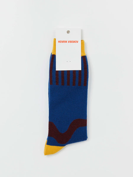 Wiggle Socks - Blue by Henrik Vibskov