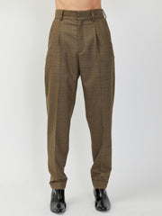 Star Trousers - Brown Plaid