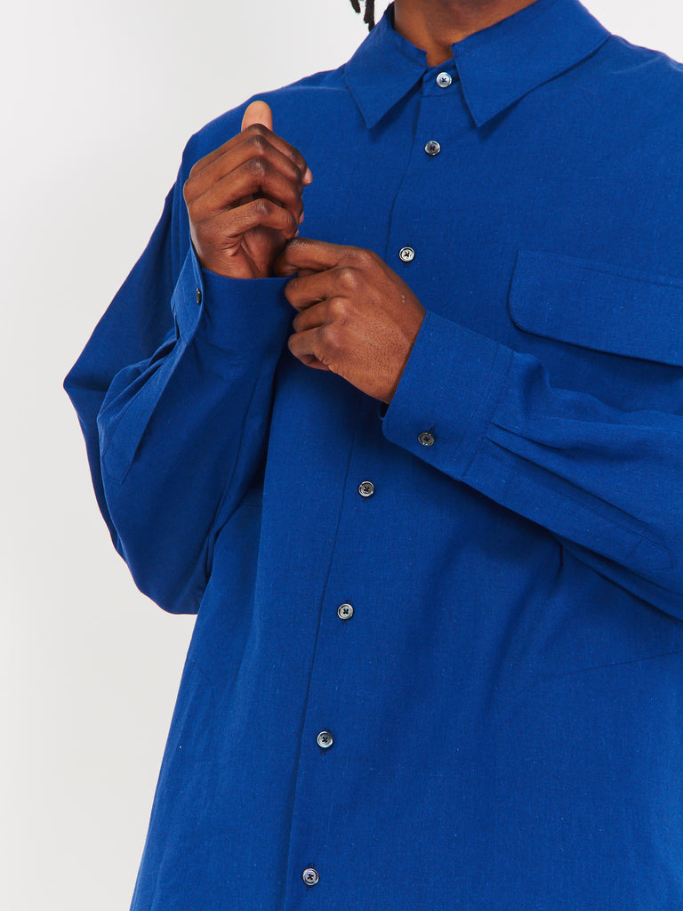 Drive Shaft Shirt Jacket - Blue by House of the Very Islands