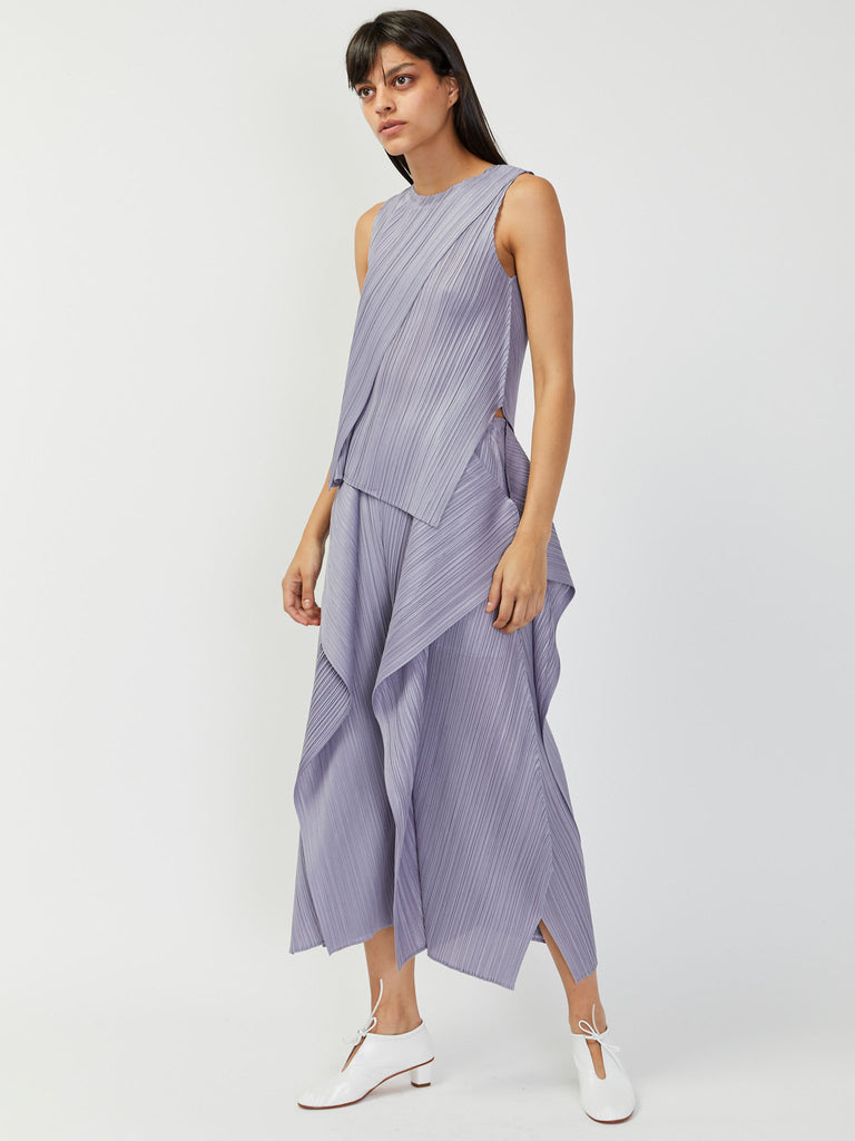 Draped Pleats Top by Issey Miyake Pleats Please