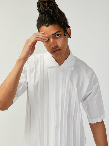 Edge Shirt - White by Issey Miyake Homme Plisse