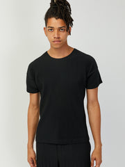 Pleated Tee - Black