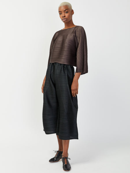 Tucked Bounce Pant - Black by Issey Miyake Pleats Please