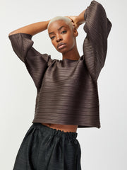 Tucked Bounce Top - Charcoal