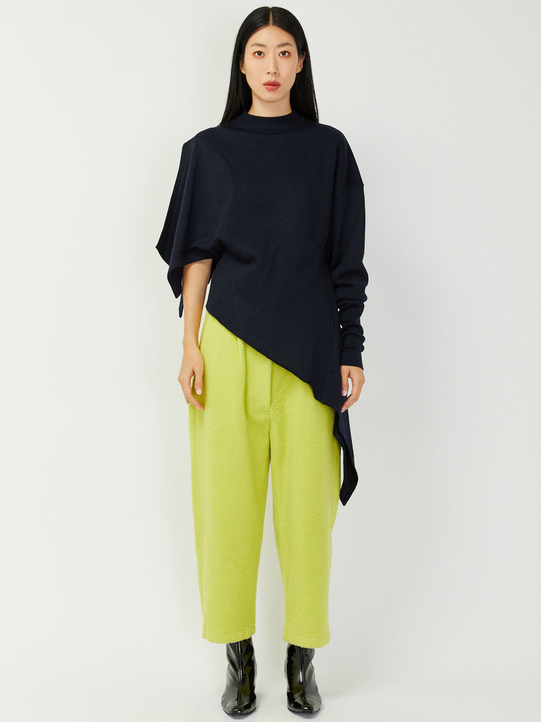 Asymmetrical Knit Sweater by Ji Oh
