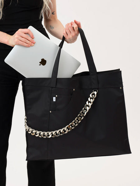 XL Jean Tote - Black by Kara