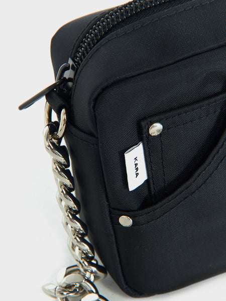 Mini Chain Jean Bag - Black by Kara
