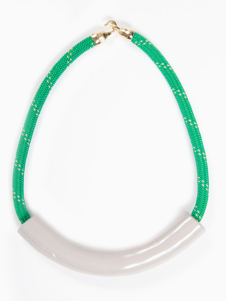 Kelly Green Rollo Necklace by OGJM