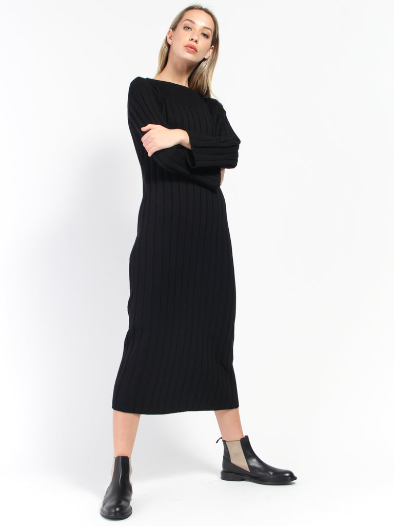 Grace Dress - Black by Kowtow