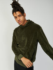 Matias Velour Sweatshirt - Green