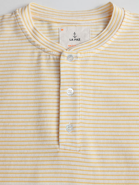 Ribas Henley - Yellow Stripes by La Paz