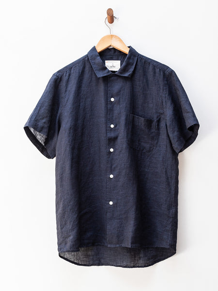 Silveira Shirt - Dark Navy by La Paz
