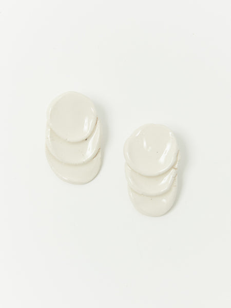 Bits White Earrings by Levens