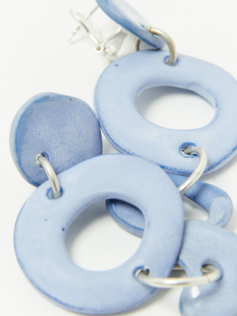 Circle Heart Blue Earrings by Levens